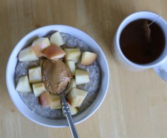 oatmeal and tea