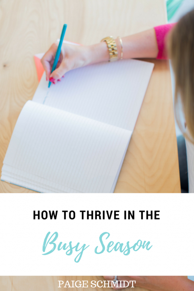 """If you need encouragement to slow down, toreservetime for yourself, say """"no"""" so that you can say """"yes"""" to the most important areasand to reel your mind in to have the mindset ofone day at a time, Paige Schmidt shares two powerful ways to thrive in the busy seasons."""