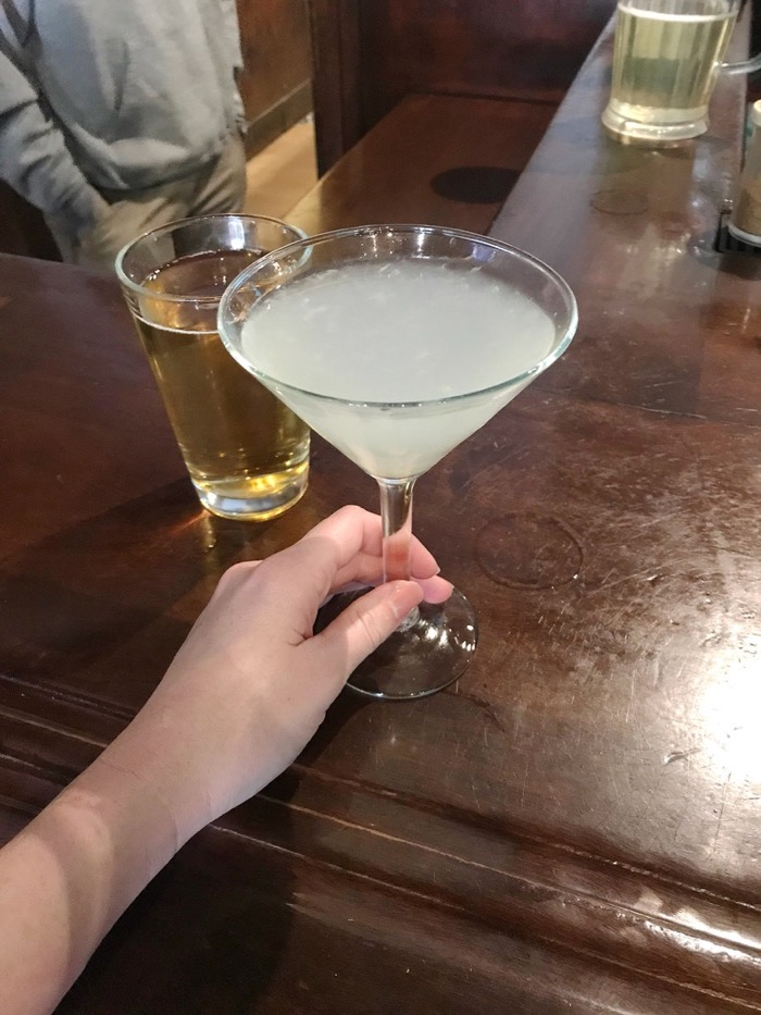 We had a drink (gin and fresh lime, shaken, for me!) at our favorite bar, Marston's, downtown before heading to a friend's BBQ at Pismo Beach, CA.