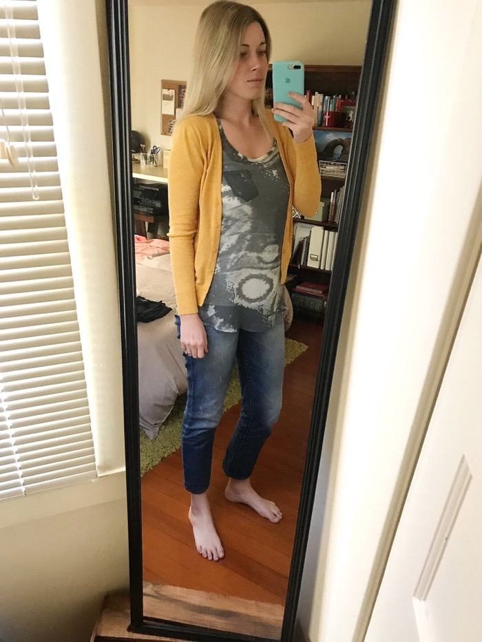 I got dressed and we relaxed for a few minutes before walking downtown to shop and watch some football.