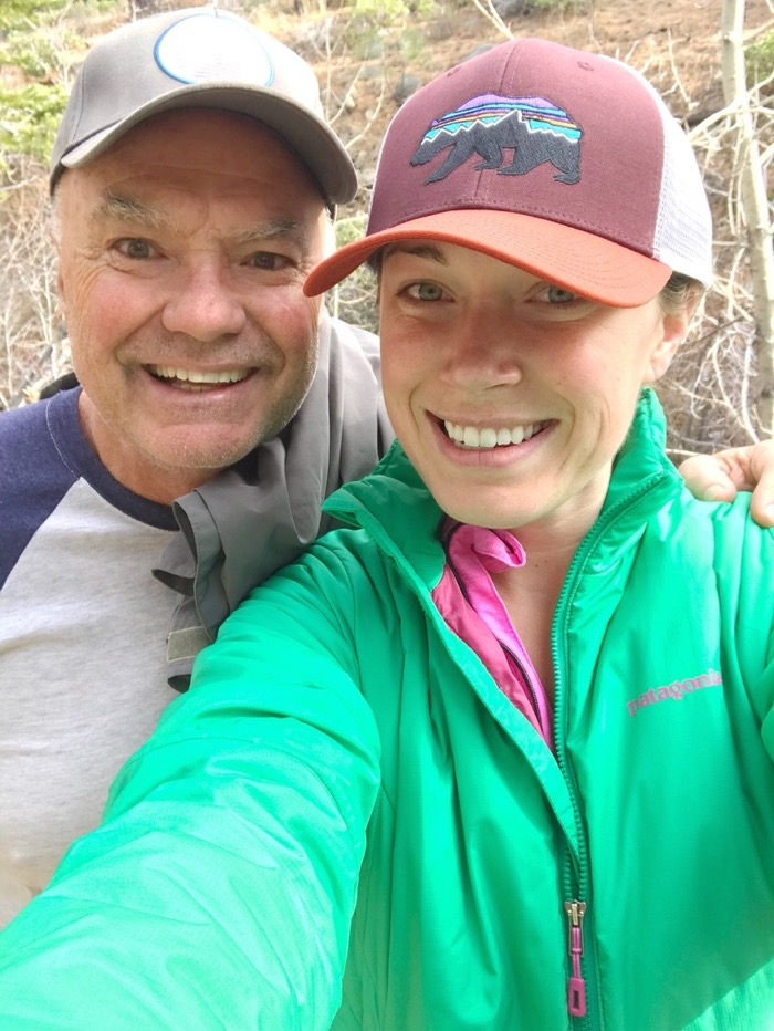 Dad and Daughter Bonding on our Family Hike in Galena, NV.
