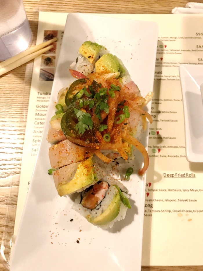Satisfying Ceviche Sushi Roll