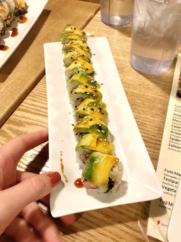 Caterpillar Sushi Roll to Share with the Table