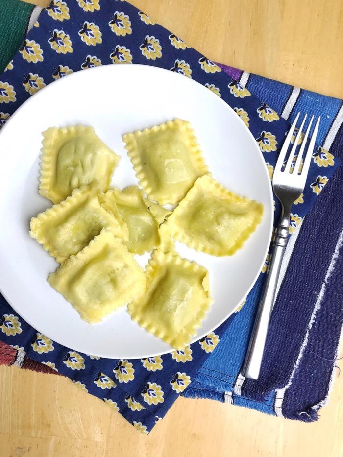 Trader Joe's Arugula Ravioli. The Perfect Quick Snack Before Lunch.