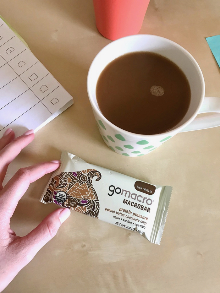 Favorite Morning Combo: GoMacro Bar with Coffee