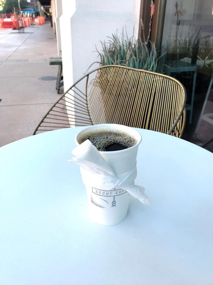 Just Me and My Coffee - No Distractions. It Was A Lovely and Peaceful Morning at Scout in San Luis Obispo, CA.