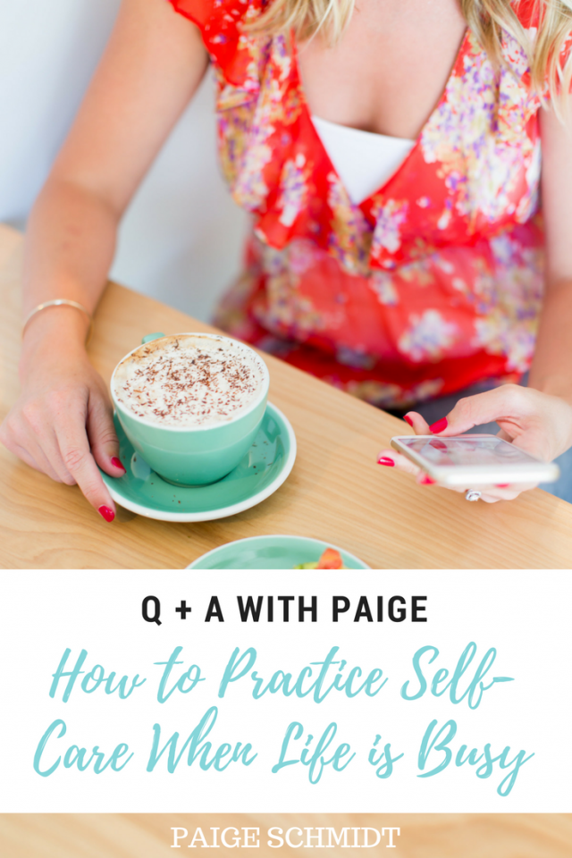 """What are some ideas for quick, small things you can do for self-care when you're tired or stressed or both but can't take a lot of time to really take care of yourself?"""