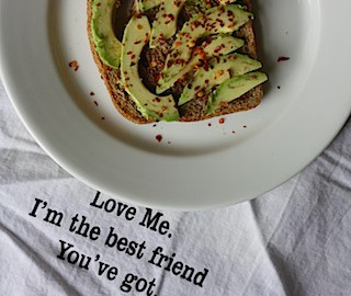 Ezekiel Toast With Evoo and Avocado Topped With Red Chili Pepper Flakes