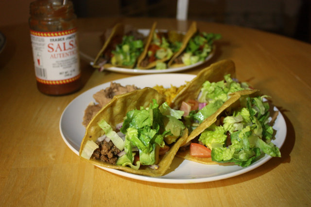 hardshell tacos at home