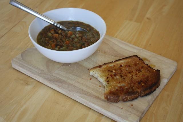 Lentil Soup & Toast