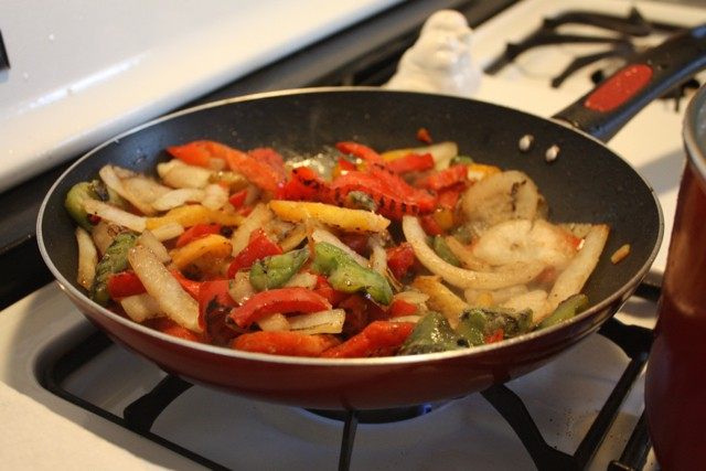 Learn how to take the chore out of meal prep and make it fun from Paige Schmidt. Roasted fajita peppers.