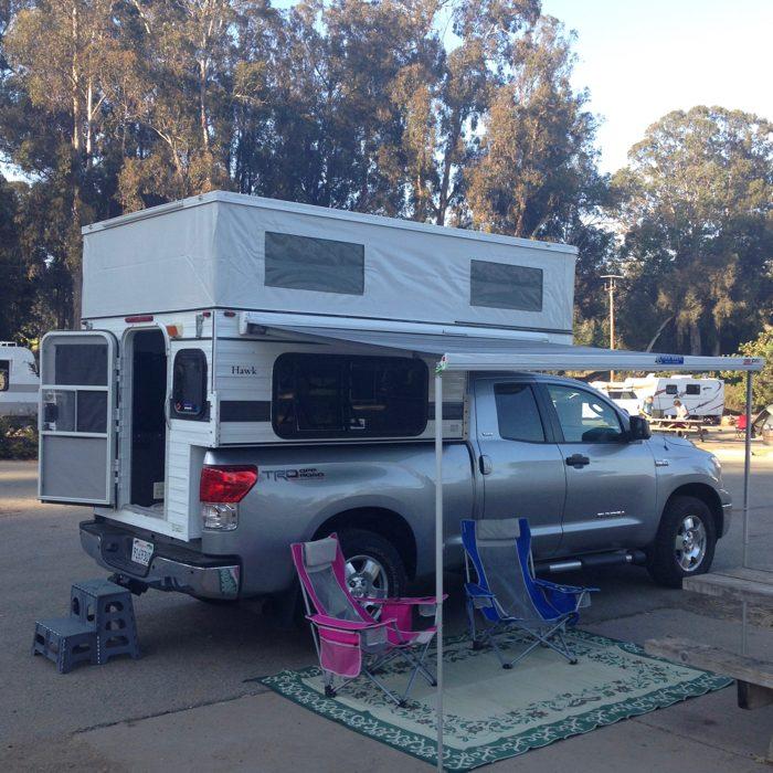 A Weekend Beach Getaway With A Four Wheel Camper at Morro Bay Beach, California