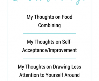 Paige Schmidt Answers Your Questions About Food Combining, Self-Acceptance, And Drawing Less Attention To Yourself Around Food.