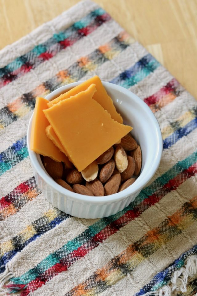 A small bowl of almonds and a piece of cheese to snack on while I closed out my inbox, planned my next day, and shut down the office