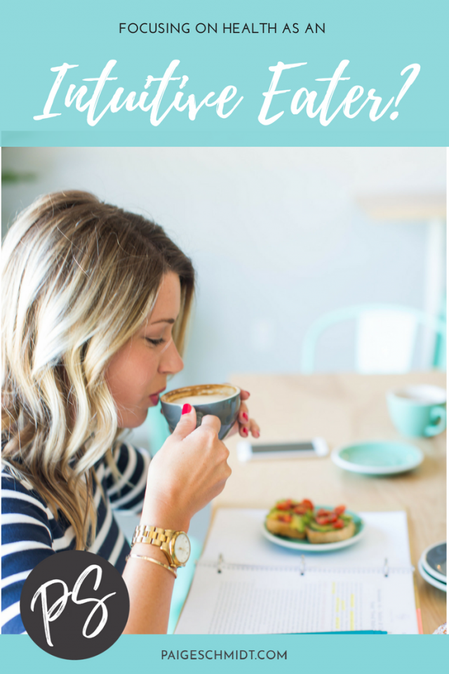 Intuitive Eating and Health