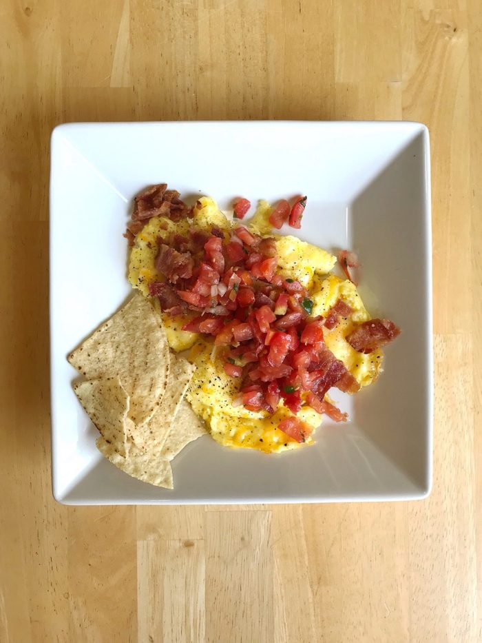 eggs with cheese and salsa