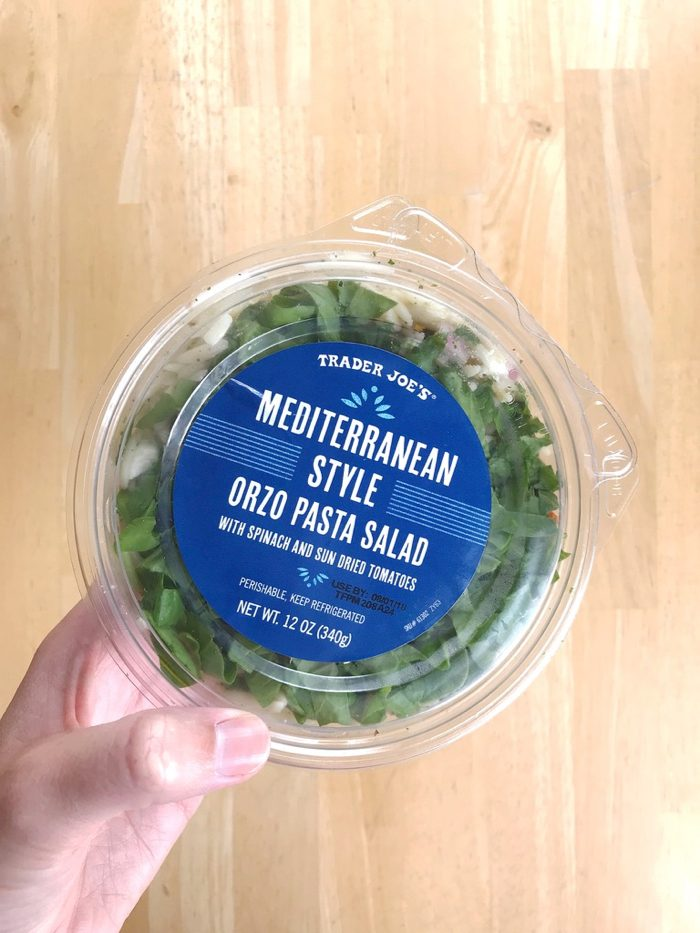 mediterranean style orzo pasta salad