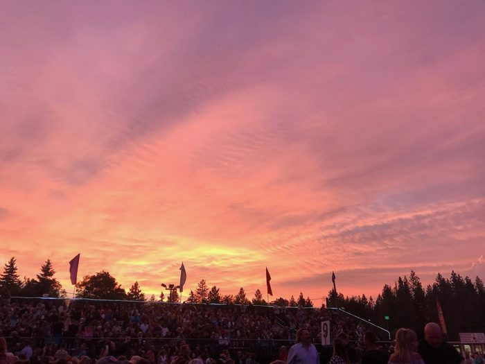 Sunset at concert