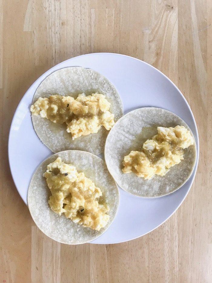 egg, corn tortilla