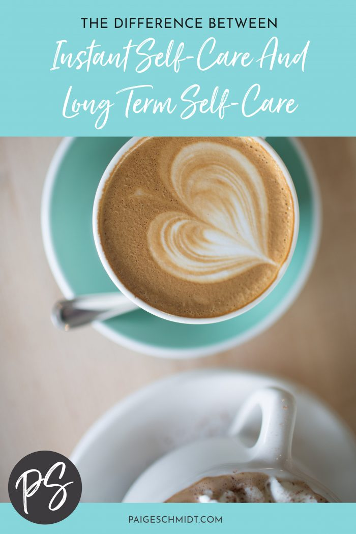 A while back I was asked to talk about the difference between long term self-care and instant self-care and differences between the two. Let's dive in!