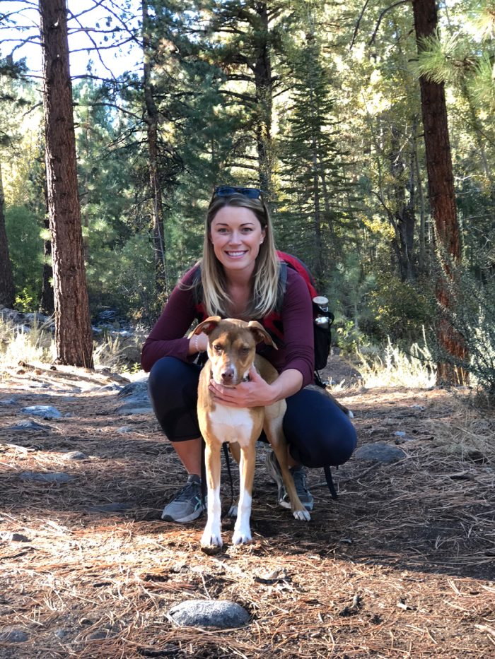 Hiking Galena Creek Trail with our puppy, Abby