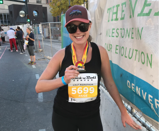 Paige Schmidt Ran Her First Half-Marathon. She's Sharing Her Experience + What It Taught Her.
