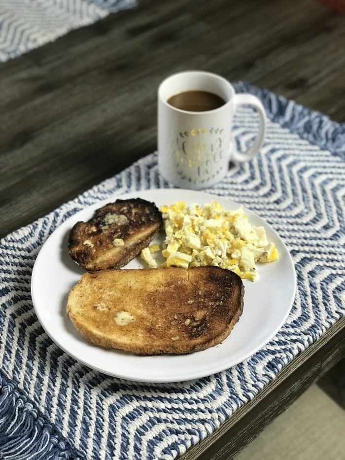 Sourdough Toast and Eggs with Coffee
