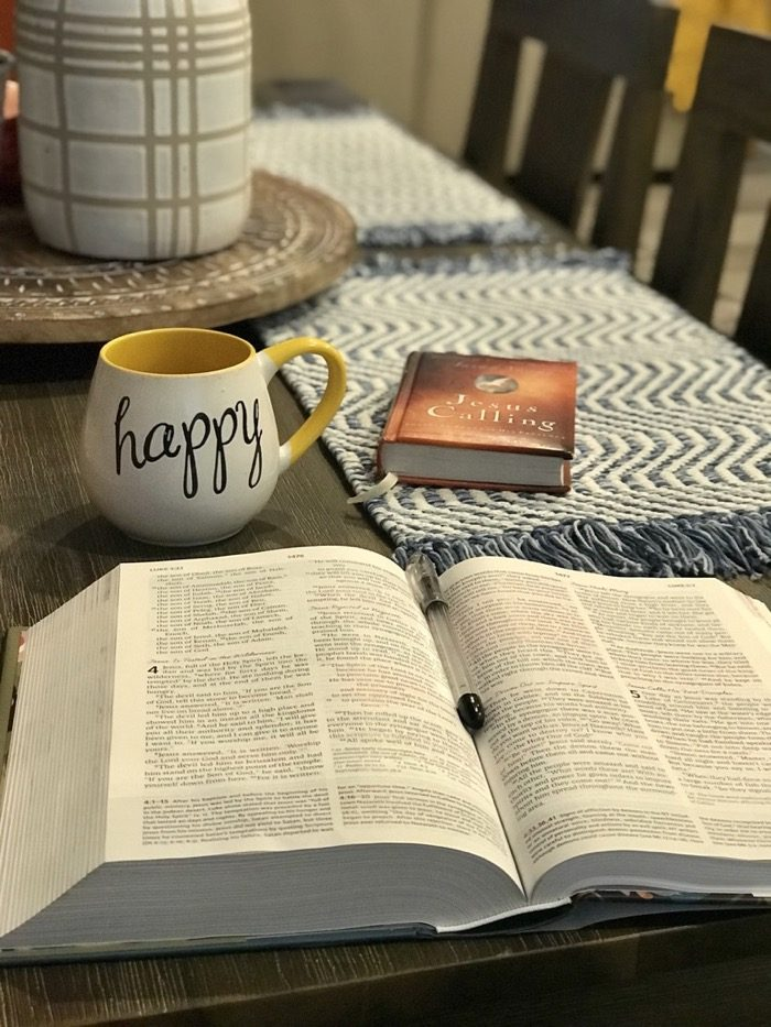 My quiet time lately has included reading my women's study Bible, a couple of devotionals, and journaling while sipping coffee. So relaxing, so inspiring, such a great start to the day.