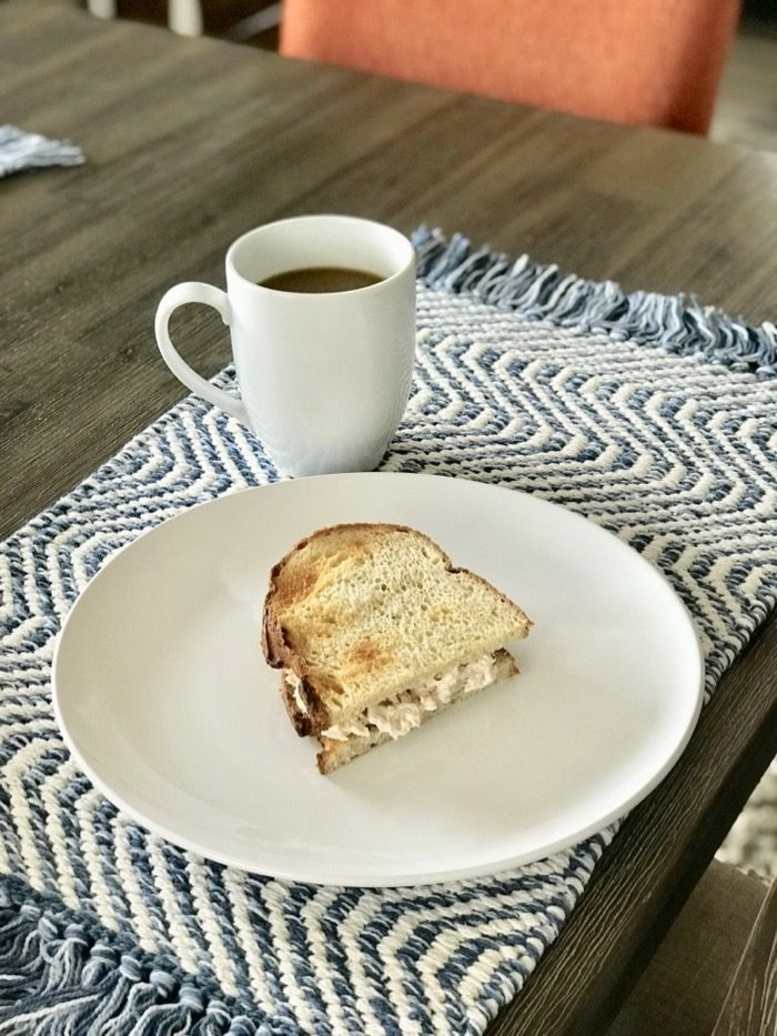 Quick and Easy At-Home Lunch   Tuna Sandwich on Sourdough