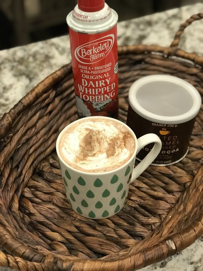 My Winter go-to Drink   Hot Chocolate with Whipped Topping