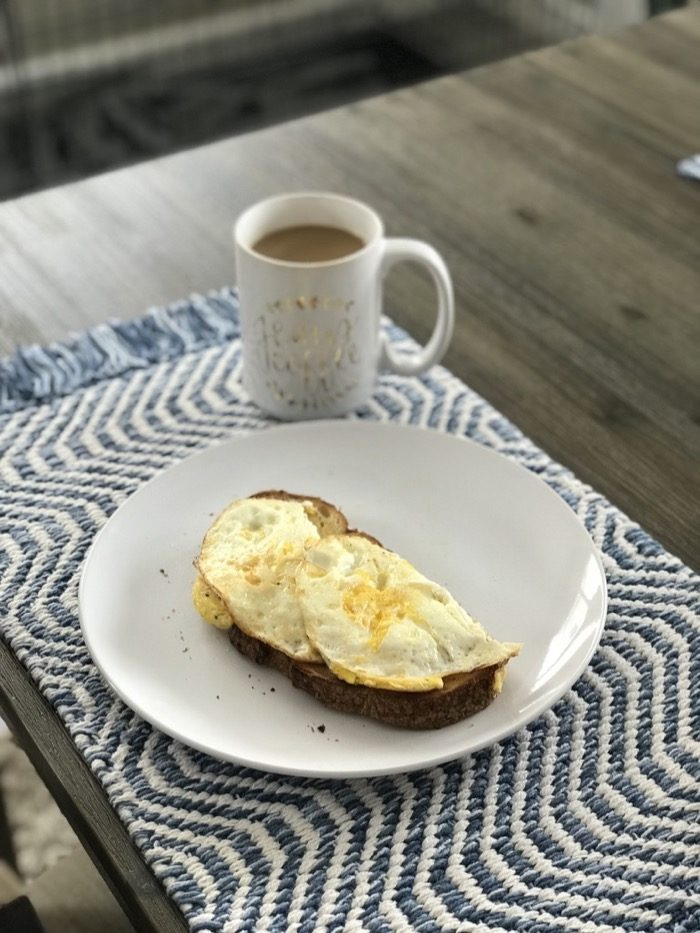 Scrambled Eggs on Sourdough. Easy, Satisfying, Delicious Breakfast!