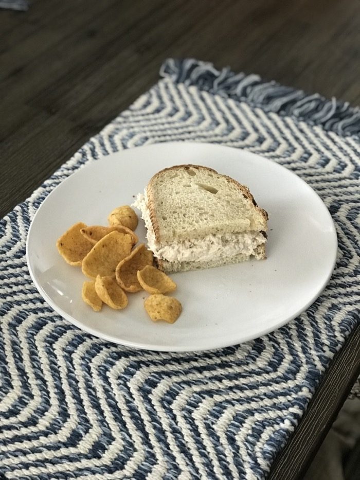 Quick and Easy Lunch   Tuna Sandwich with Fritos on the side.