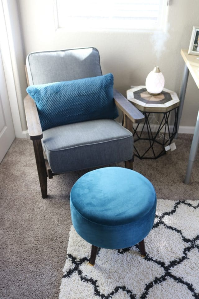 A New Side Table From TJ Maxx For My Coaching Nook in my Home Office.