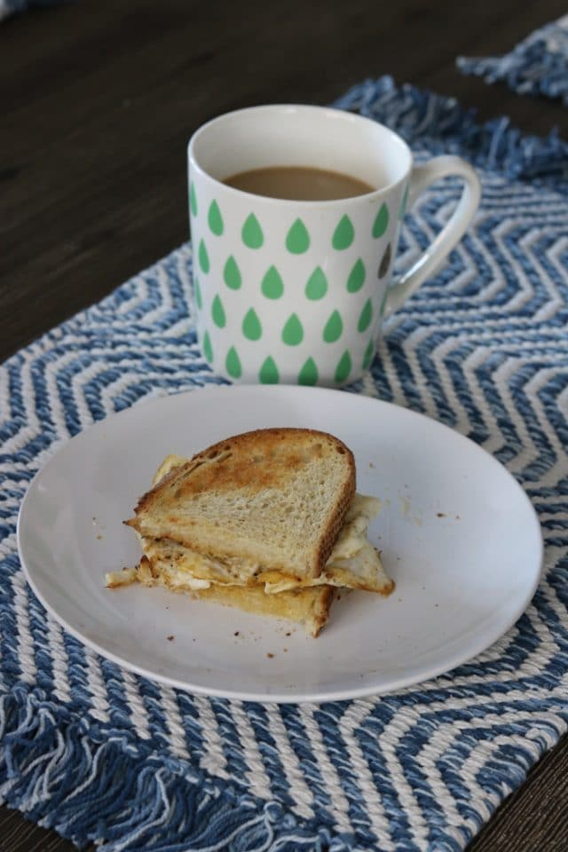 Over-Medium Egg, Sourdough Toast and Coffee for Breakfast