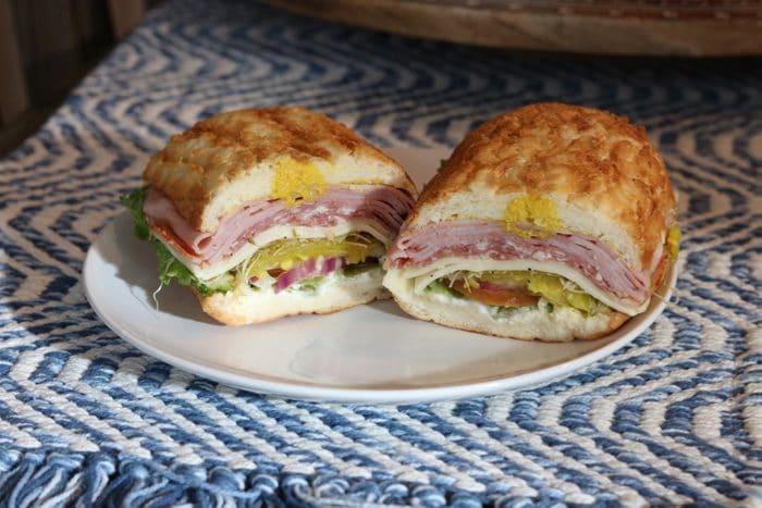 Paisan's Deli's Italian Sandwich on Dutch Crunch Bread. My favorite grab and go lunch in Reno, Nevada.