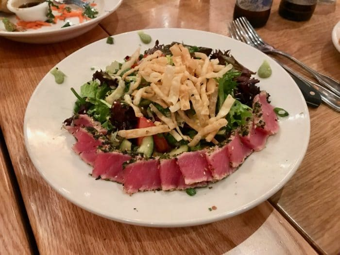 Ahi Salad from BJ's in Reno, Nevada. One of our favorite places to grab dinner with friends.