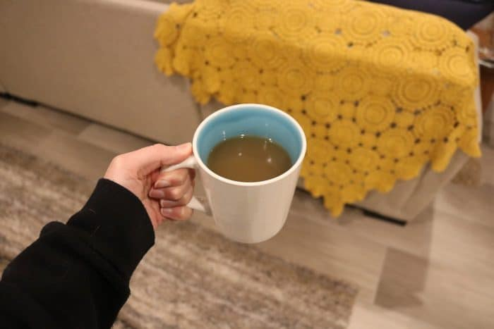 Daily Eats | My go-to cozy and comforting drink for an evening on the couch and fully relaxed - warm chicken stock.