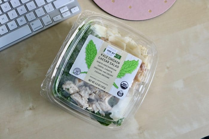 Daily Eats | Trader Joe's kale chicken caesar salad for lunch.