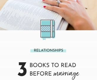 The top three books that helped prepare us for marriage. Even though we have an Imperfect marriage, books, counseling with Psychotherapist, and pre-marital counseling with someone at our Church were helpful tools in preparing us for marriage.