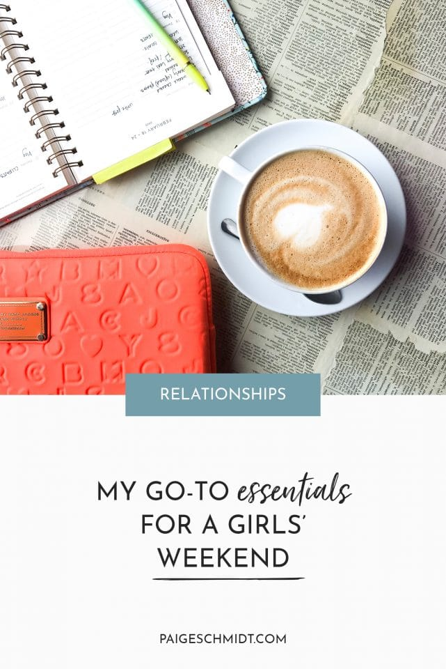 Read about Paige Schmidt's ideal girls' weekend - full of coffee, cozy chats around the table, and cooking at home.