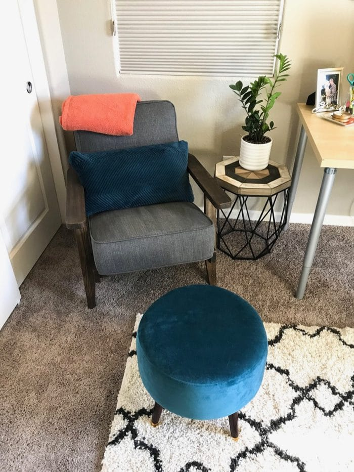 My work-from-home coaching nook. This is where I get to talk to clients during our sessions!