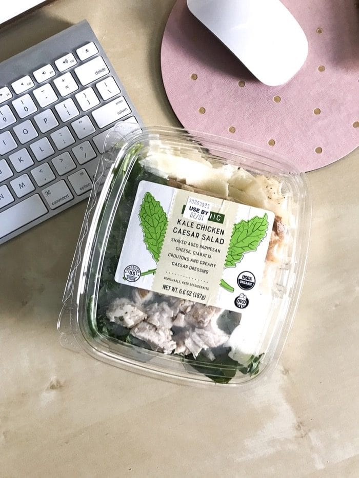 Grab-and-go lunch idea: Trader Joe's  Kale Chicken Caesar Salad