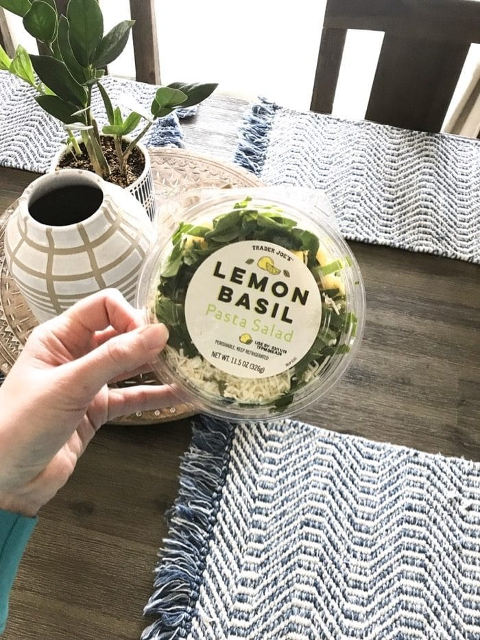 Trader Joe's Lemon Basil Pasta Salad for a grab-and-go lunch