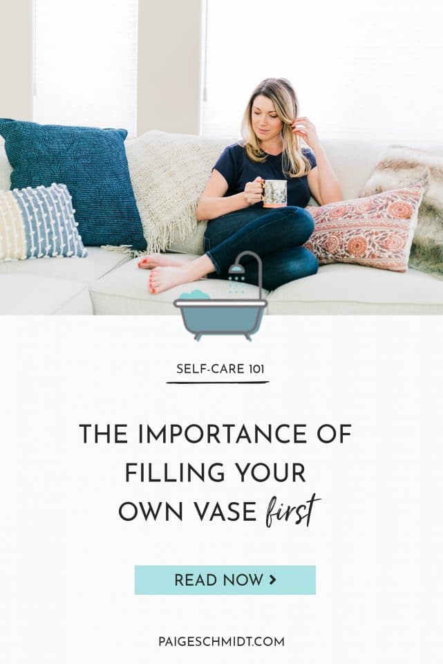 My #1 takeaway from Rachel Hollis' movie Made For More - The importance of filling your own vase first.