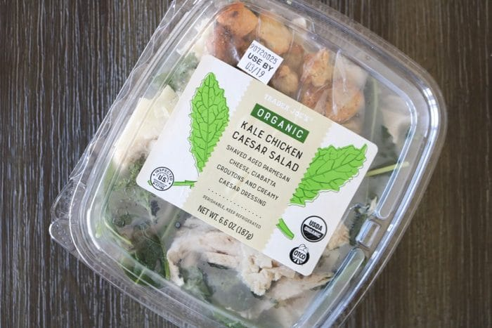 Trader Joe's Organic Kale Chicken Caesar Salad Kit