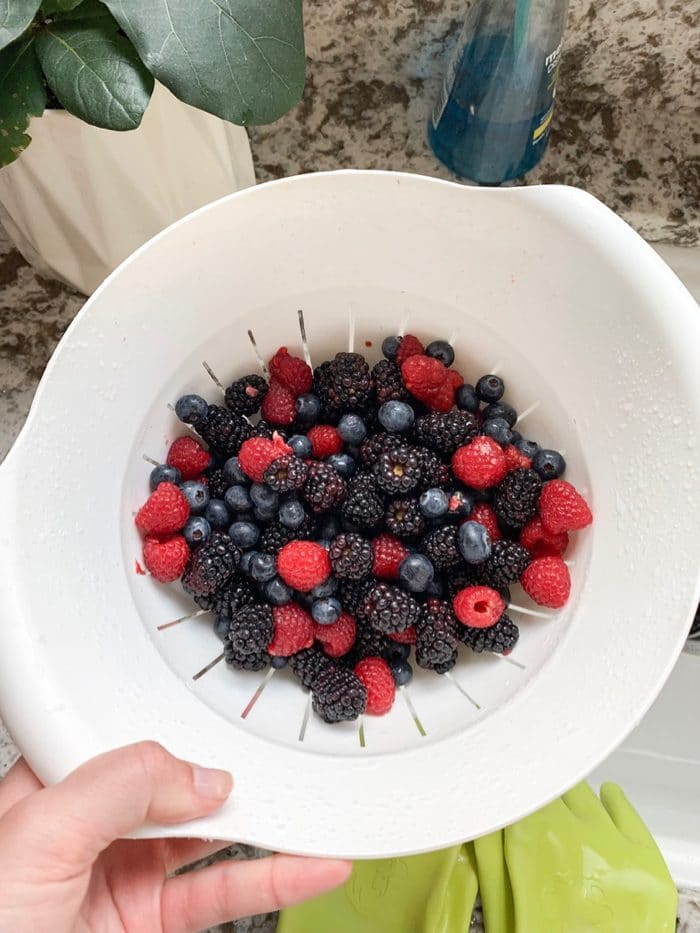 Mixed fresh berries, the perfect simple summer dessert