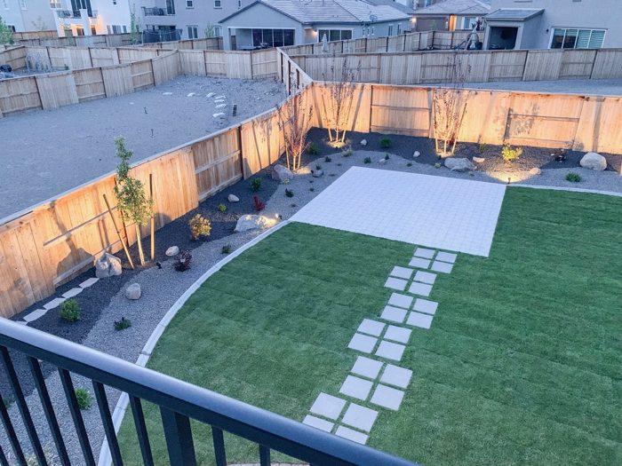 Our backyard landscaping is complete. Our new home in Reno, Nevada feels complete!