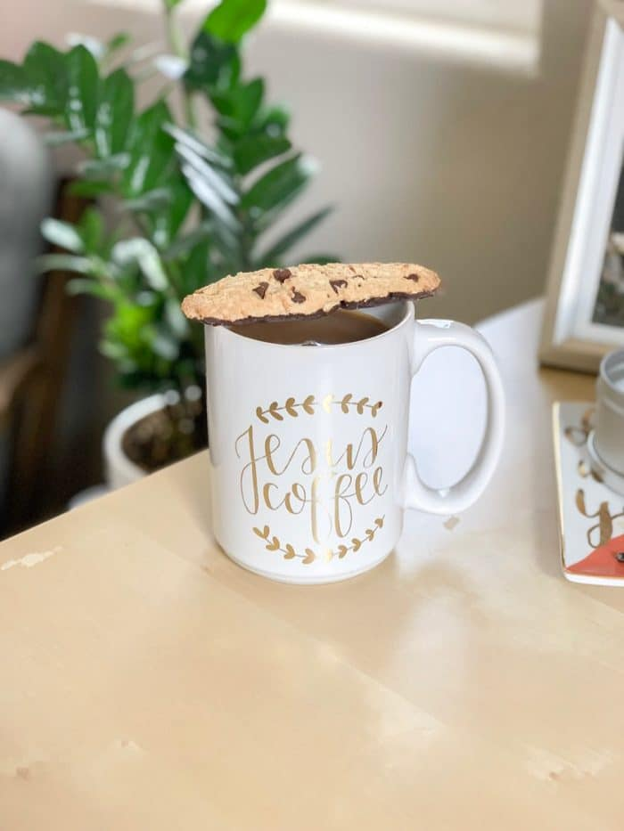 Daily Eats | Black coffee and Trader Joe's chocolate chip dunker