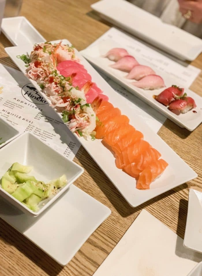 All you can eat sushi at Hinoki Sushi for dinner in Reno, Nevada.