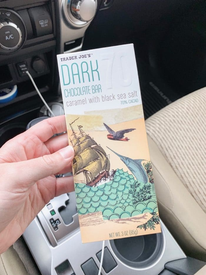 Daily Eats | Trader Joe's Dark Chocolate Bar with caramel and black sea salt